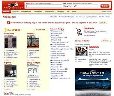 Find a Local Business: Yelp.com