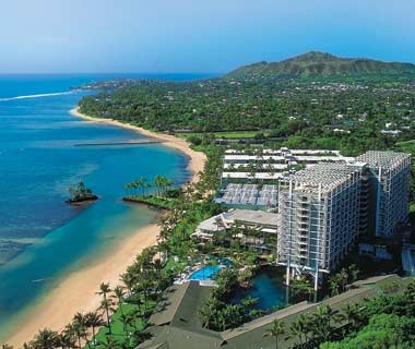 aerial view of Kahala Hotel & Resort in Oahu, HI
