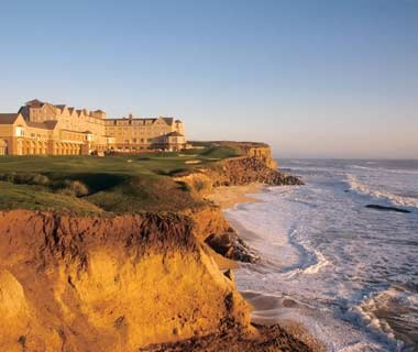 the Ritz-Carlton overlooking the ocean at Half Moon Bay, CA