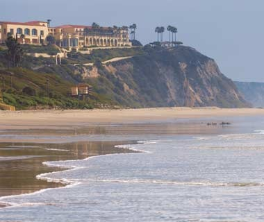 Ritz-Carlton Laguna Niguel over looknig the ocean in Dana Point, CA