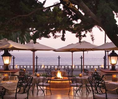 fire pit at the Four Seasons Resort The Biltmore in Santa Barbara, CA