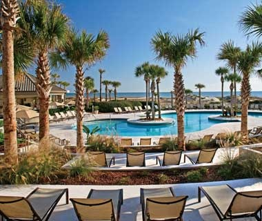 guest pool at the Ritz-Carlton in Amelia Island, FL
