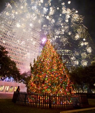 Houston City Hall Holiday Tree - America's Tallest Christmas Trees Travel + Leisure