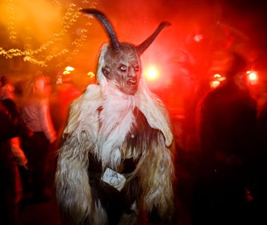 Krampus, Austria and Hungary