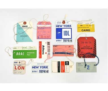 20x200 Vintage Luggage Tags