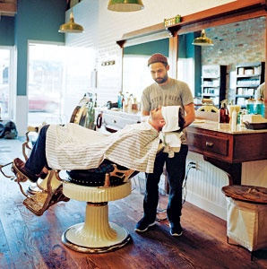 Baxter Finley Barber Shop, West Hollywood, California, Shave and a Haircut