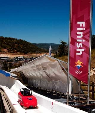 """The Comet"" Bobsled at Utah Olympic ParkPark City, UT"