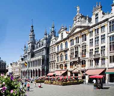 classic buildings in Brussels, Belgium