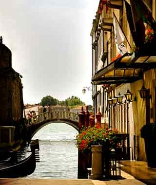 canals in Venice, Italy