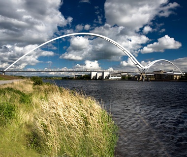 Infinity Bridge, Stockton on Tees, England