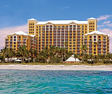 Ritz-Carlton beach front hotel in Key Biscayne, FL