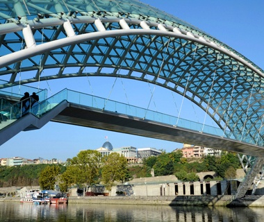 The Bridge of Peace, Tbilisi, Georgia