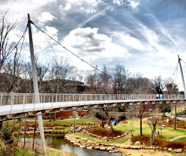 LibertyBridge in Falls Park,Greenville, SC