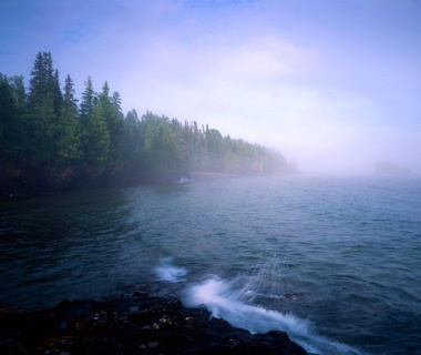 Minnesota & Michigan: Between Grand Portage inMinnesota and Isle Royale National Park in Michigan in Lake Superior