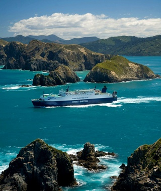 New Zealand: Across the Cook Straitbetween Wellington and Picton