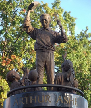 Statue of Arthur Ashe, Richmond, VA