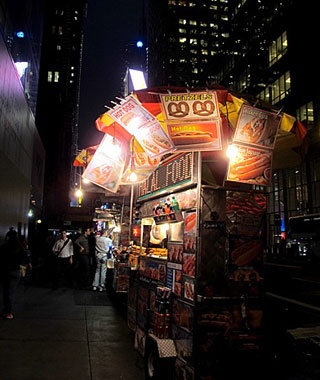 Late-night Street Vendor, New York City