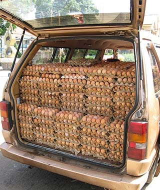 Carful of Eggs, Jos, Nigeria