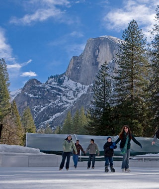 Curry Village Ice Rink, Yosemite National Park, CA