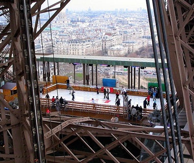 Eiffel Tower Ice Rink, Paris