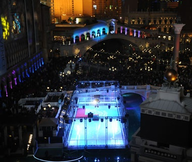 Ice Skating on the Strip, The Venetian, Las Vegas