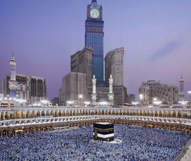 Biggest Clock Tower:Abraj Al-Bait Clock Tower, Mecca, Saudi Arabia