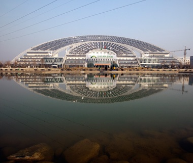 Biggest Solar Building:Solar City, Dezhou, China