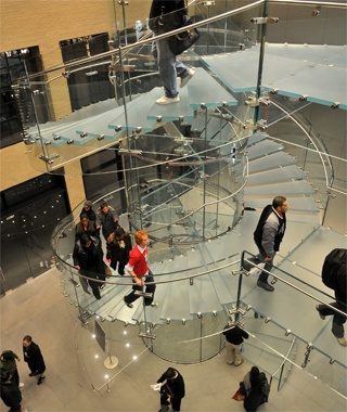 Floating Glass Staircase, West 14th Street Apple Store, New York City