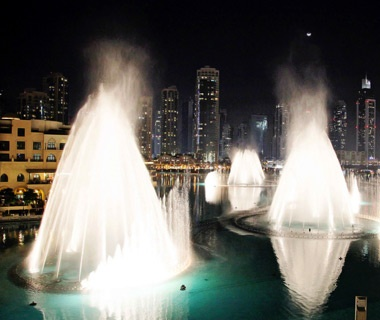 Dubai Fountain, Burj Khalifa, UAE
