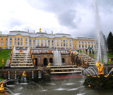 The Grand Cascade at Peterhof: St. Petersburg, Russia
