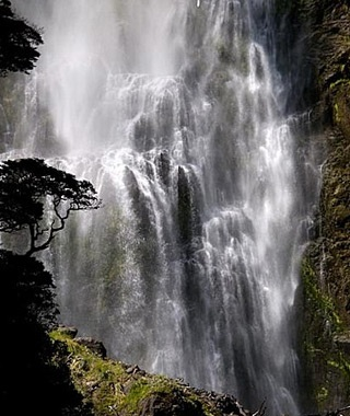 Devil's Punchbowl Falls, Arthurs Pass, South Island, New Zealand
