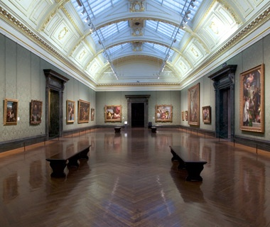 Art on display at the National Gallery in London, England
