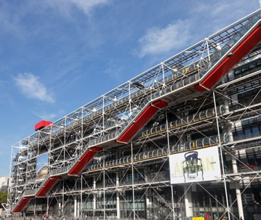 outside of the Centre Pompidou museum in Paris, France