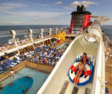 AquaDuck waterslide aboard the Disney Dream cruise ship