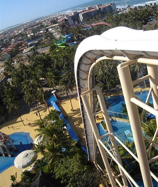 Insano water slide in Beach Park, Brazil