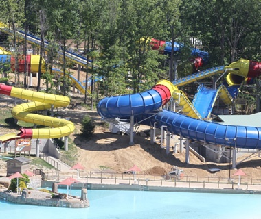 Mammoth waterslide at Holiday World and Splashin' Safari in Santa Claus, IN
