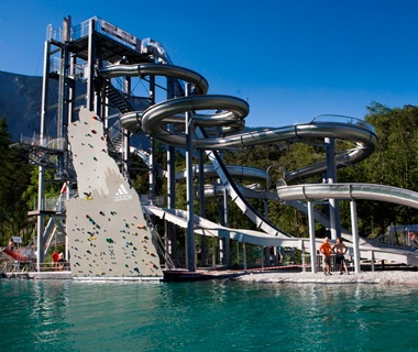Wiegand Maelzer Slide Tower waterslide at Area47 in Tyrol, Austria