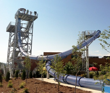 Wild Vortex water slide at Wilderness at the Smokies, TN