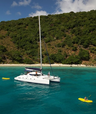 Catamaran in the British Virgin Islands