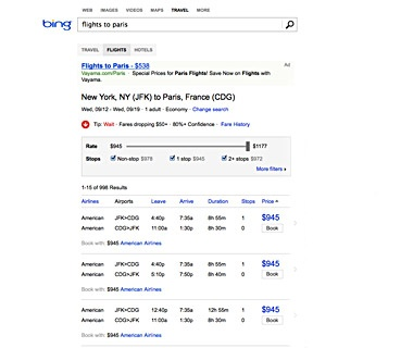 Know When to Buy: Bing Travel
