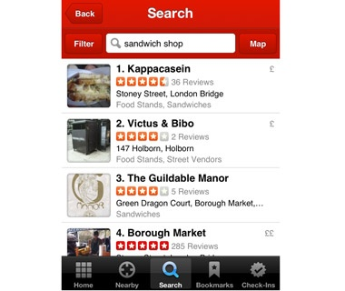 Locate the Nearest Anything Around You: Yelp