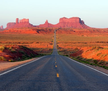 Driving Through Mexican Hat and Monument Valley, UT