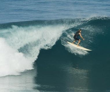 Surfing on Sumba Island, Indonesia