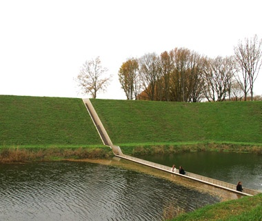 Sunken Bridge: Halsteren, Netherlands