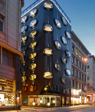 Honorable Mention: Best Hotel, Fewer Than 100 Rooms Hotel Topazz, Vienna