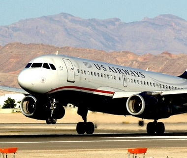 US Airways airplane taking off