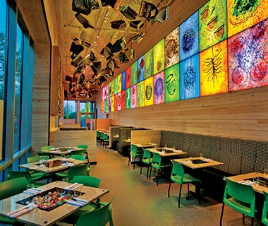 Collections Café, Chihuly Garden and Glass, Seattle