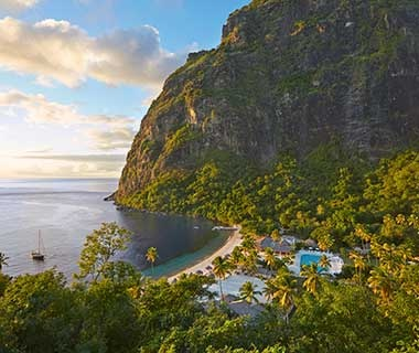 Beach: Sugar Beach, a Viceroy Resort, St. Lucia