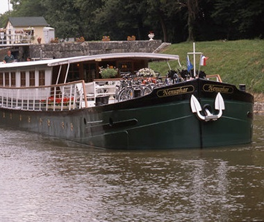 French Country Waterways cruise ship cruising down the river