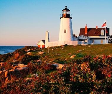Lighthouses Along The Maine Coast Painted Red